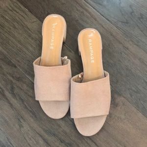 Tan Mules - New without tags
